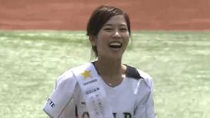 5月4日マリーンズ始球式に2014年サッポロビールイメージガールの原田ゆかさん登場!! 2014/5/4 M-L